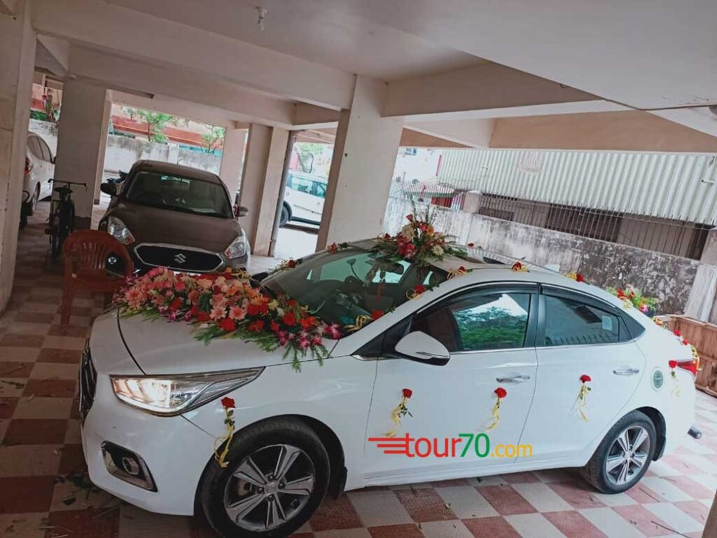 Saba Jamal hired wedding car Hyundai Verna Fluidic in Patna AG Colony